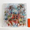 Peinture technique mixte - Carnet de voyage - Cécile Colombo - vue situation