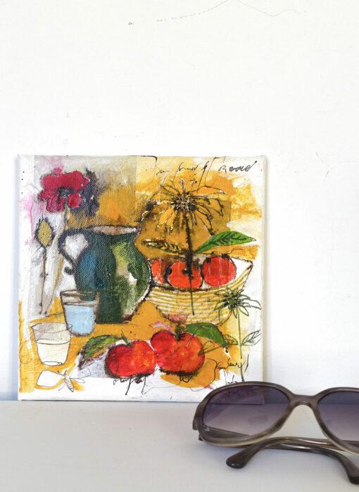 Peinture technique mixte - Nature morte - Cécile Colombo - vue situation