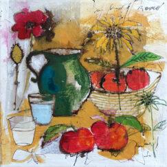 Peinture technique mixte - Nature morte - Cécile Colombo - œuvre détourée