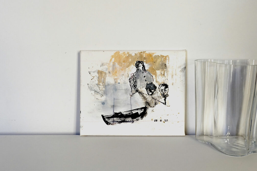 Peinture acrylique abstraite - 09 III 20 - Philippe Croq - vue situation