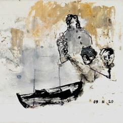 Peinture acrylique abstraite - 09 III 20 - Philippe Croq - œuvre détourée