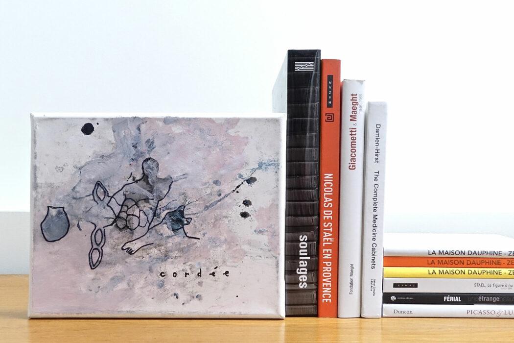 Peinture acrylique abstraite - Cordée - Philippe Croq - vue situation