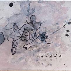 Peinture acrylique abstraite - Cordée - Philippe Croq - œuvre détourée