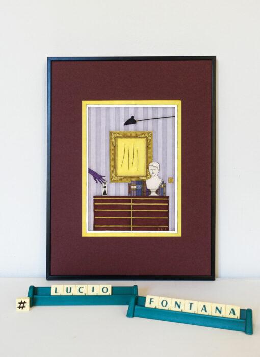 Lucio Fontana & le gant de velours - Damien Nicolas Roux - artiste contemporain