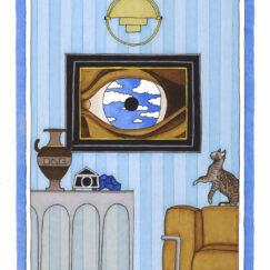 René Magritte & le chat perché - Damien Nicolas Roux - surréalisme