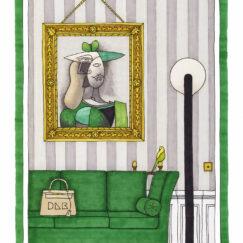 Pablo Picasso & la perruche - Damien Nicolas Roux - artiste contemporain