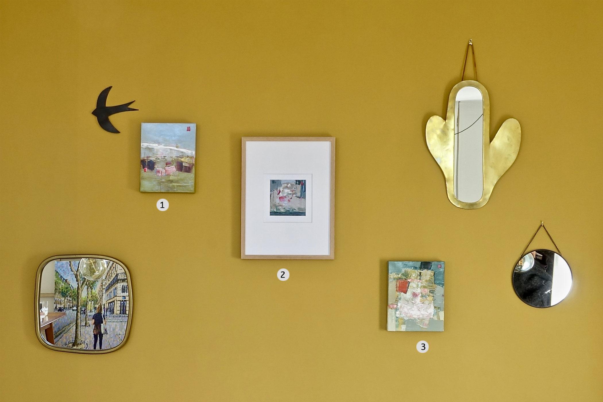 Oeuvres contemporaines - mur couleur ocre