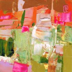 Peinture technique mixte - Toute la vie - Perrine Rabouin - artiste contemporain