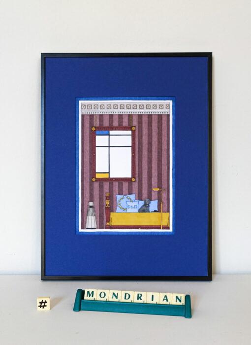 Piet Mondrian & le chien mélomane - Damien Nicolas Roux - artiste contemporain