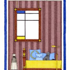 Piet Mondrian & le chien mélomane - Damien Nicolas Roux - œuvre contemporaine